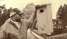 Cary George with Woodduck House
