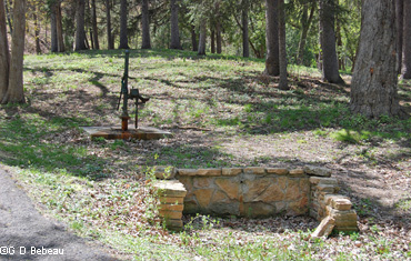 Spring and new well at Great Medicine Spring